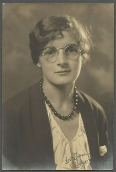 Woman Wearing Glasses with Beaded Necklace Vintage Photo Snap Shot W28 | eBay