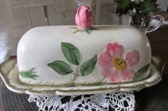 Franciscan Desert Rose Covered Butter by UnexpectedBeginnings