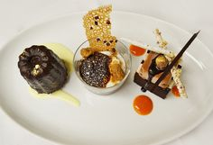 Pastry Chef Shane Gray's Trio of Cacao Barry Chocolate: Ocoa Canelé, Inaya S'more & Glace Alunga Noisette