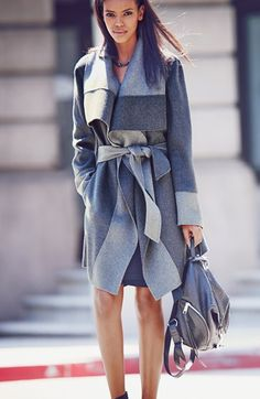 Diane von Furstenberg Two-Tone Coat & Accessories | Nordstrom Get 7% cash back on all of your Nordstrom purchases with StuffDOT! #dotshopsave