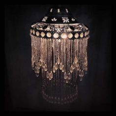Vintage Style Chandelier Pendant Light By Made With Love £99.95 #artdeco #thegreatgatsby #glamorous #light #beading #Moroccan #ethnic #interiors