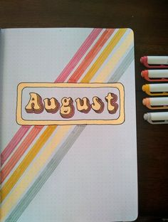 Bullet Journal August, Creating A Bullet Journal, Bullet Journal Cover Ideas, Bullet Journal Lettering Ideas, Bullet Journal Banner, Bullet Journal Notebook, Bullet Journal Aesthetic, Bullet Journal School, Bullet Journal Ideas Pages