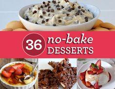 No Bake Desserts Blog