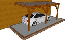 This step by step diy project is about wooden carport designs. Take a look over these carport design ideas if you want to make a simple but durable construction in your yard. Wood Carport Kits, Carport Canopy, Carport Plans, Carport Garage, Carport Ideas, Pergola Ideas, Outdoor Ideas, Outdoor Decor, Metal Carports Prices
