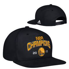 sports shoes bf4fe be2aa Golden State Warriors adidas 2017 NBA Finals Champions Flat Brim Snapback  Cap - Black Classic Nike