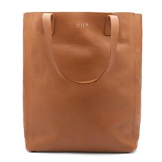 Cuyana: Leather Tote (Tall) in Caramel. The ultimate wear-with-everything everyday bag.