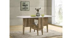 Buy Drop Leaf Extendable Dining Table Folding Storage Gate Leg from Kogan.com. This double-sided Folding Dining Table is perfect when you do not have much space. Each side folds out separately to convert from a deep table when closed. This striking dining table brings the perfect balance of versatile utility and loft-worthy looks to your environment. Featuring a white and oak wood design, this piece offers up natural looks, while the top lets you serve u…. Dining Table Legs, Extendable Dining Table, Wood Table, Table And Chairs, Tables, Scandi Home, Small Space Solutions, Low Cabinet, Engineered Wood
