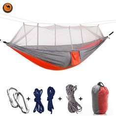 Camp Sleeping Gear Smart 1pc Sleeping Hammock Hamaca Hamac Portable Garden Outdoor Camping Travel Furniture Mesh Hammock Swing Sleeping Bed Nylon Hangnet Sufficient Supply