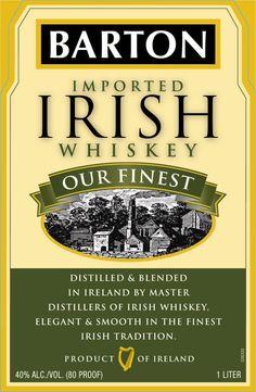 """irish whiskey"" + artisan + label - Google Search Jameson Irish Whiskey, Irish Whiskey Brands, Single Malt Irish Whiskey, Irish Coffee, Affogato Recipe, Whiskey Cake, Whiskey Recipes, Old Irish, Whiskey Cocktails"