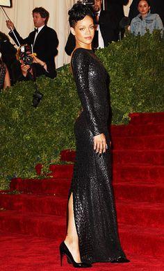 Met Gala Red Carpet 2012: Rihanna wearing Tom Ford