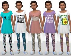 Cat Tights for Girls by Tacha75 at SimsWorkshop via Sims 4 Updates