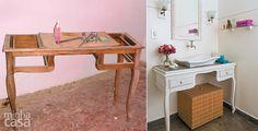 Antes e depois:  móveis repaginados - Casa