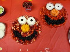 Characters Made Out of Fruit | This picture (above) just shows more of the little Sesame Street ...