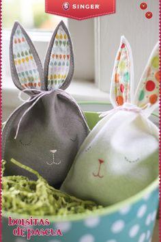 Bolsitas de conejitos de pascua #yolohice #peques #pascua