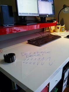 IKEA Hackers: Modern dry-erase standing desk