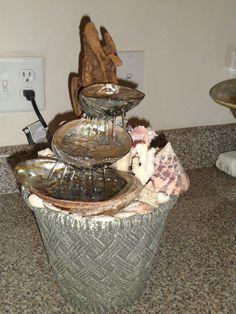Abalone Shell Water Fountain Coastal Peace by TKArtisticCreations Table Fountain, Diy Fountain, Seashell Art, Seashell Crafts, Coastal Christmas Decor, Abalone Shell, Ocean Beach, Hobbies And Crafts, Yard Art