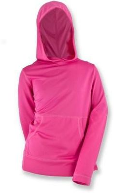 Mesh hoodie provides bug protection and sun protection. She needs this for summer!