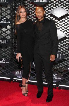 Chrissy Teigen and John Legend - Lexus Design Disrupted Fashion Event - Arrivals