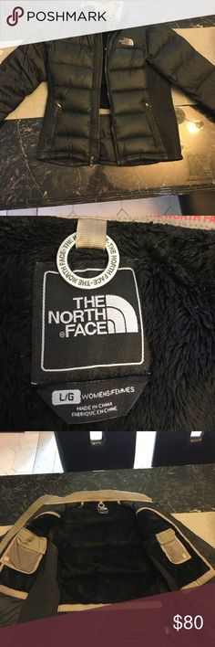 North Face Puffer Jacket - Women's ✨Large black woman's North Face puffer jacket with ribbed sides. Very gently used, in great condition!✨ North Face Jackets & Coats Puffers