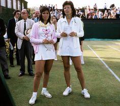 Rosie Casals & Billie Jean King - 1973 Wimbledon Women's Doubles Partners.