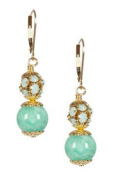 Light Blue Russian Amazonite Drop Earrings by mariechavez on @HauteLook