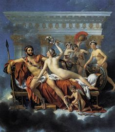 Mars Disarmed by Venus and the Three Graces  Jacques-Louis DAVID, (born: 30 August 1748 – died: 29 December 1825)