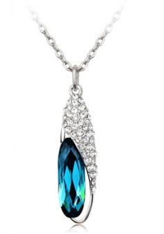 Special Design Fashion Glass Shoes Pendant Crystal Necklace -US$ 22.99