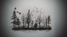 """#sketch #draw #instaart #mywork #mydrawing #foresttattoo #forest #tattooproject #finallook"""