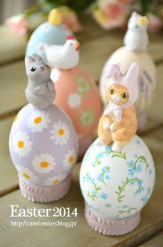 昨日は、イースター、復活祭の日。   日本でも、イースターにちなんだ卵やうさぎのモチーフのものが 最近はあちらこちらで見られるようになりました...