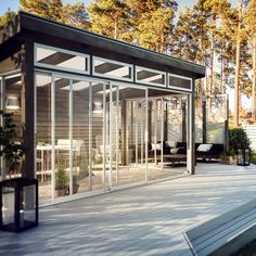 Outdoor Spaces, Outdoor Living, Contemporary Garden Rooms, Greenhouse Shed, Covered Decks, Garden Office, Wooden Decks, Shed Plans, Pool Houses