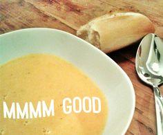 Rezept Süßkartoffel-Kokosmilch-Suppe, vegan von cleolotte - Rezept der Kategorie Suppen