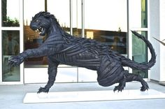 These Amazing Animal Sculptures Are Each Made From 100's of Tires - UltraLinx