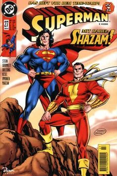 VsRound 52 DC Superman and Shazam(Captain Marvel).Round New DC Superman and Shazam(Captain Marvel). Captain Marvel Shazam, Shazam Comic, Original Captain Marvel, Superman Comic Books, Dc Comic Books, Vintage Comic Books, Vintage Comics, Comic Book Covers, Comic Book Characters