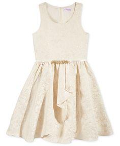 Bloome Metallic Jacquard Special Occasion Dress, Big Girls (7-16)