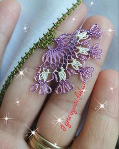İ Needle Lace, Thread Work, Lace Making, Tatting, Diy And Crafts, Embroidery, How To Make, Jewelry, Model