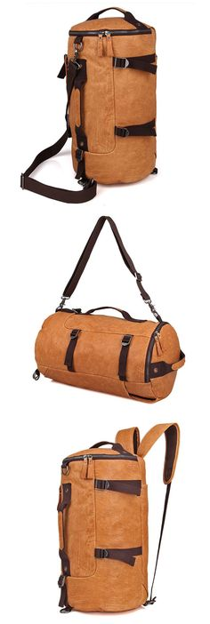 0f0c8c7fd318 Convertible Backpack Shoulder bag Handmade Leather Backpack Crossbody bag  For Men Кожаные Сумки Ручной Работы,