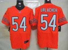 Nike Bears #54 Brian Urlacher Orange Alternate Mens NFL Elite Jersey