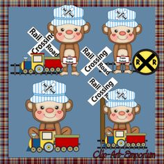 Cute Train Clip Art | cute train monkeys location clipart rail road cute train monkeys