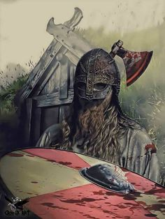 Norse Warrior with battle axe.