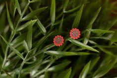 Cherish - Hand Painted Wooden Stud Earrings (Flower) – Naoi