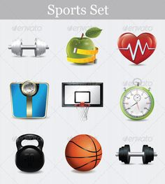 "Sports Set    #GraphicRiver        Includes:  	 FOLDER: ""Sports Set – JPG"" Contains: 3962×4000  	 FOLDER: ""BSports Set  – EPS"" Contains: fully editable Vector Object EPS. Minimum Adobe Illustrator CS Version – CS10.  	 FOLDER: ""Sports Set – AI"" Contains: fully editable AI file. Minimum Adobe Illustrator CS Version – CS10. The image is made up entirely of vector shapes so you may resize to whatever size you need.     Created: 16July13 GraphicsFilesIncluded: JPGImage #VectorEPS #AIIllustrator…"