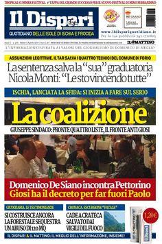 La copertina del 06 agosto 2016 #ischia #ildispari