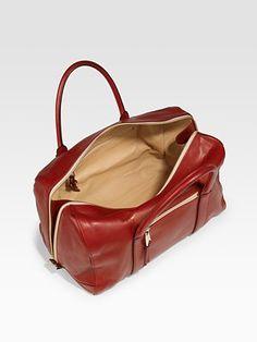 Chloé  Madeleine Large Duffel Top Handle Bag in red, black or smoke (gray)
