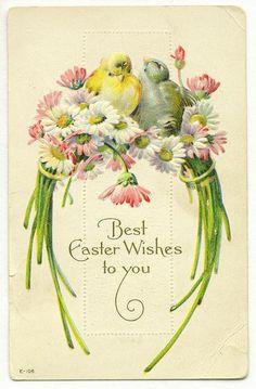 Vintage greeting easter card