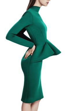 Lanvin- emerald peplum | More colourful lusciousness here: http://mylusciouslife.com/photo-galleries/a-colourful-life-colours-patterns-and-textiles/