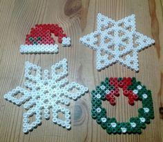 Christmas items hama perler beads by Susanne Damgård Sørensen