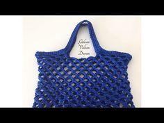 Pamuk makrome ipten file çanta yapımı -2 - YouTube Filet Crochet, Crochet Cross, Love Crochet, Knit Crochet, Crochet Clutch, Crochet Handbags, Crochet Purses, Crochet Toys Patterns, Crochet Designs