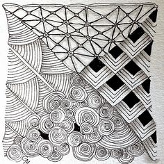 What is a Zentangle? Zentangle is an easy-to-learn, relaxing, and fun way to create beautiful images by drawing structured patterns. Easy Zentangle, Zentangle Drawings, Doodles Zentangles, Zentangle Patterns, Chalkboard Art Quotes, Zen Art, Collaborative Art, Stencil Art, Graphic Design Typography