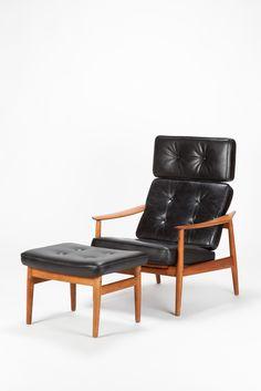 Arne Vodder Reclining Lounge Chair France & Son Model 164