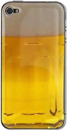 Awesome beer iPhone case.  It looks so delicious, it's making us thirsty....
